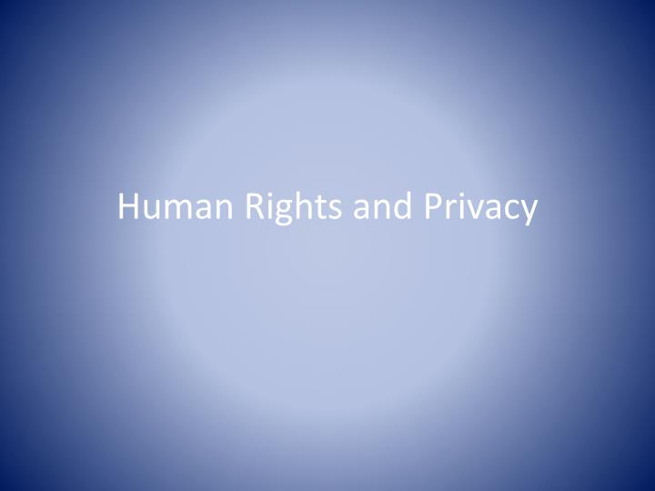 human rights and privacy n.