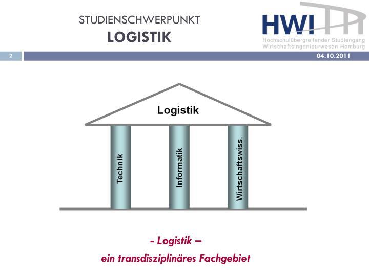 Studienschwerpunkt logistik1