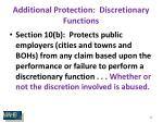additional protection discretionary functions