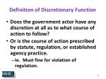 definition of discretionary function