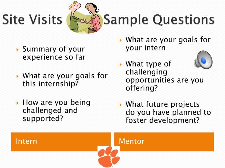 Site Visits          Sample Questions