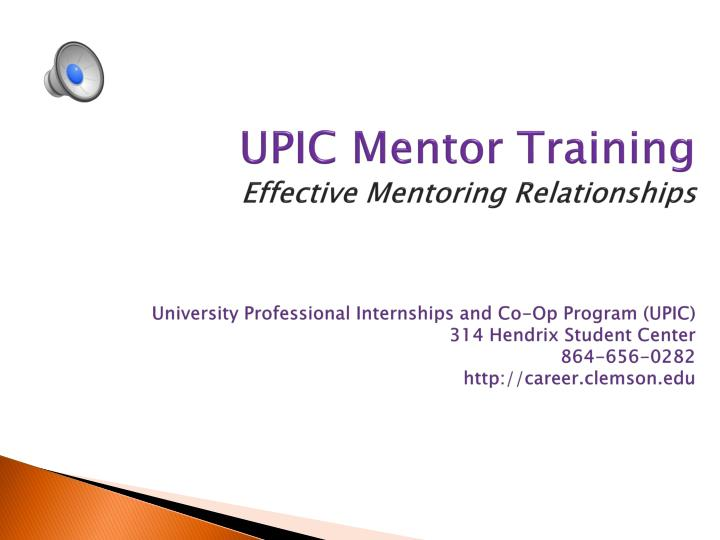 UPIC Mentor Training