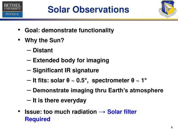 Solar Observations