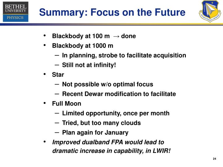 Summary: Focus on the Future