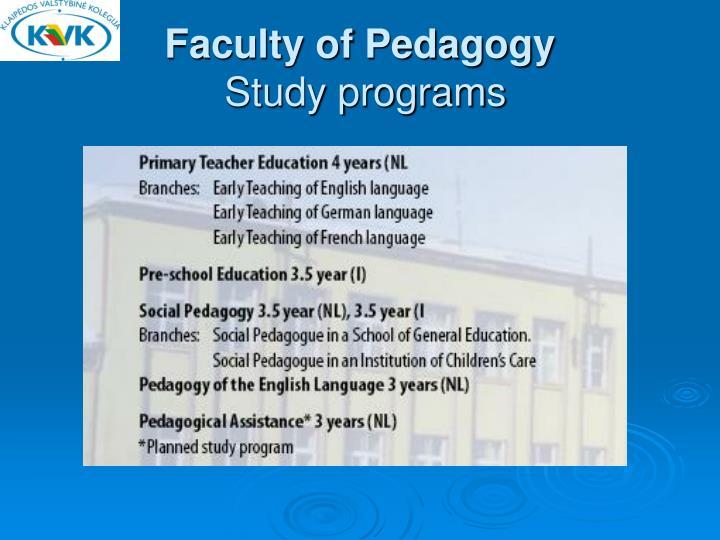 Faculty of Pedagogy