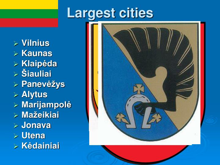 Largest cities
