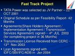 fast track project