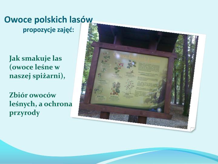 Owoce polskich lasów