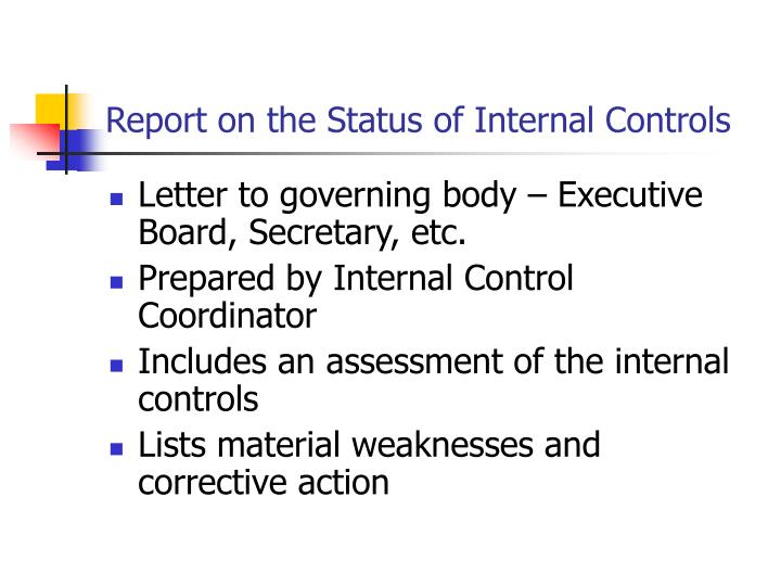 internal control weakness and corrective actions The corrective action plan (cap) internal control reporting corrective actions are needed effectiveness of internal controls within the.