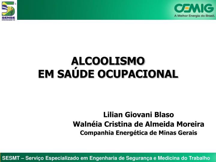 Alcoolismo em sa de ocupacional
