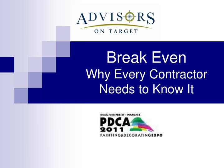 break even why every contractor needs to know it n.