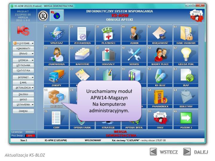 Uruchamiamy moduł APW14-Magazyn