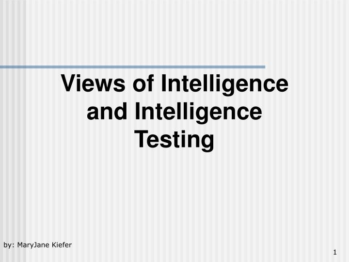 an introduction to the analysis of iq testing and grouping intelligence Iq regression to the mean : the genetic prediction vindicated the present analysis, because sibling data and iq years of testing negro intelligence.