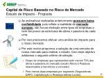 capital de risco baseado no risco de mercado estudo de impacto proposta