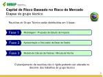 capital de risco baseado no risco de mercado etapas do grupo t cnico