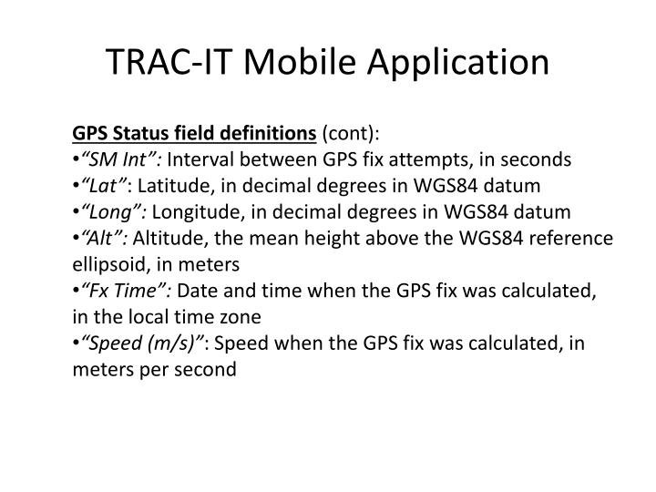 TRAC-IT Mobile Application