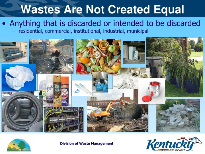 Wastes Are Not Created Equal