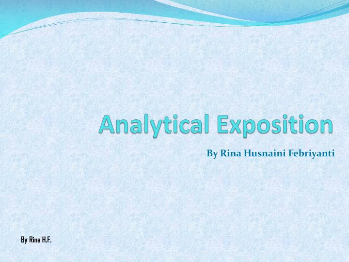 analytical exposition n.