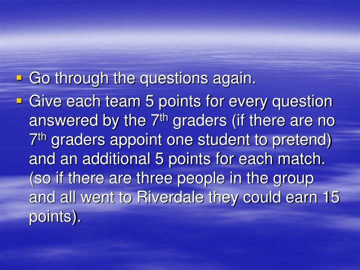 Go through the questions again.