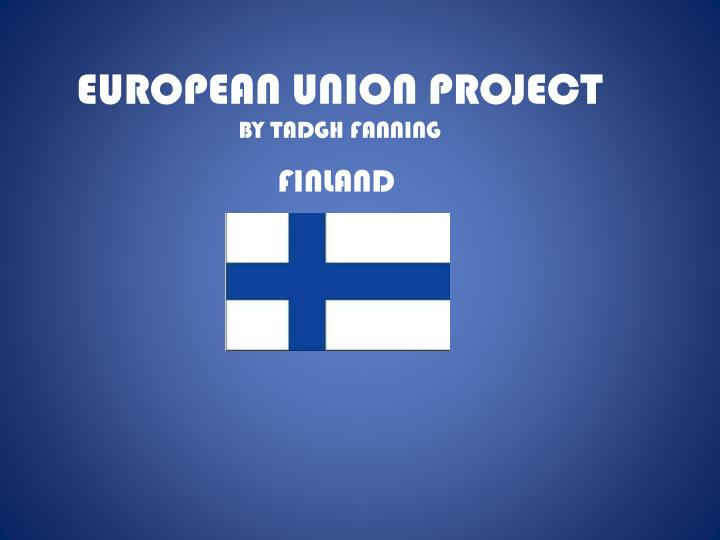 european union project by tadgh fanning n.