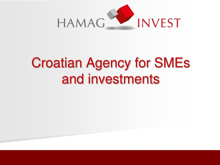 croatian agency for smes and investments n.