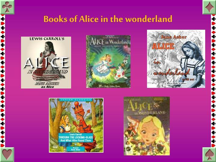 Books of Alice in the wonderland