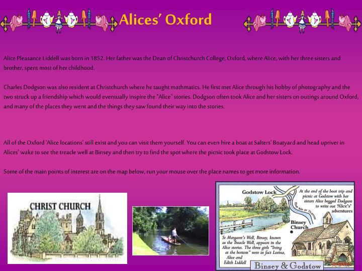 Alices' Oxford