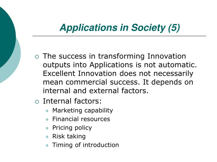 Applications in Society (5)