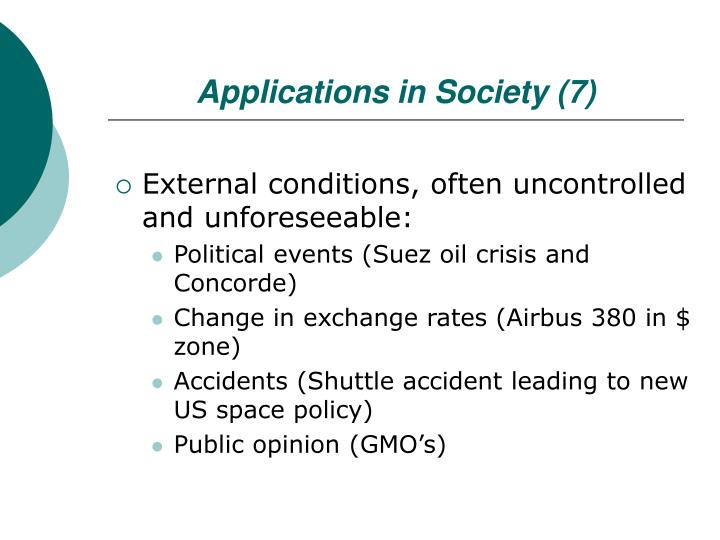 Applications in Society (7)