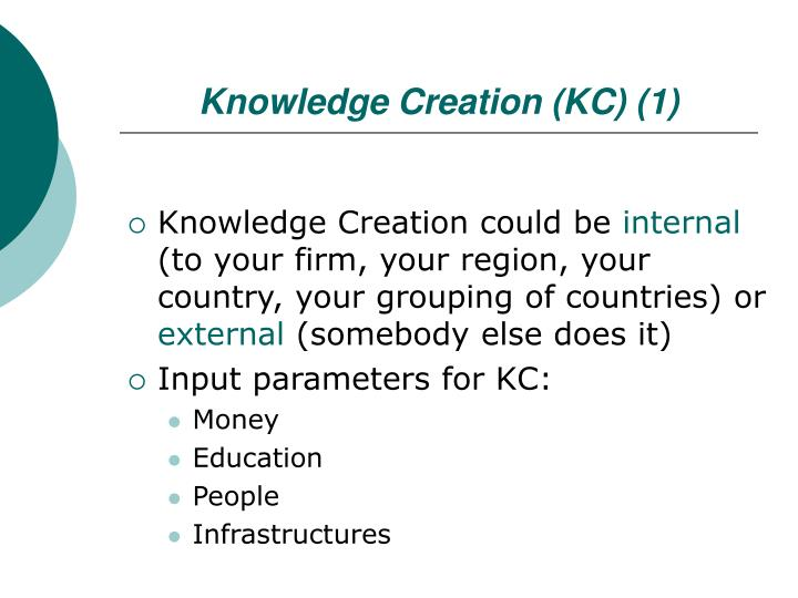 Knowledge Creation (KC) (1)