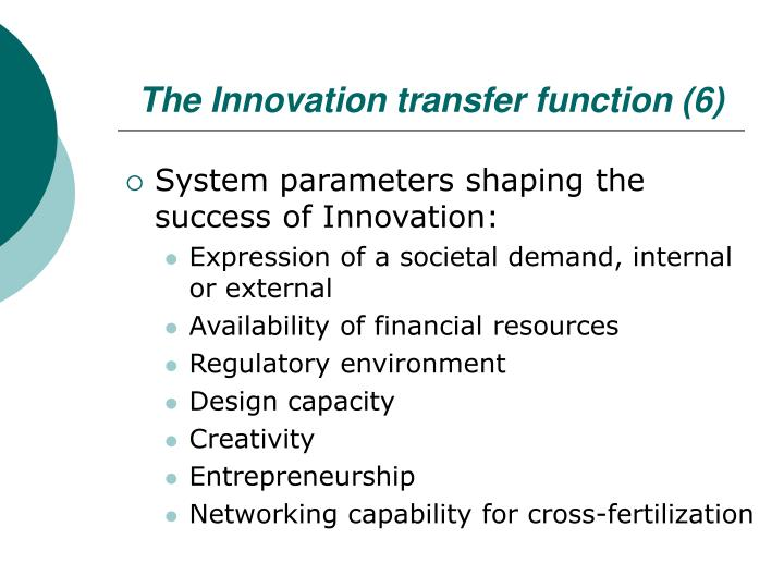 The Innovation transfer function (6)