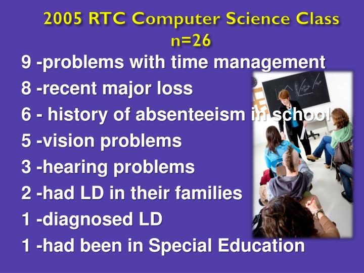 2005 RTC Computer Science Class n=26