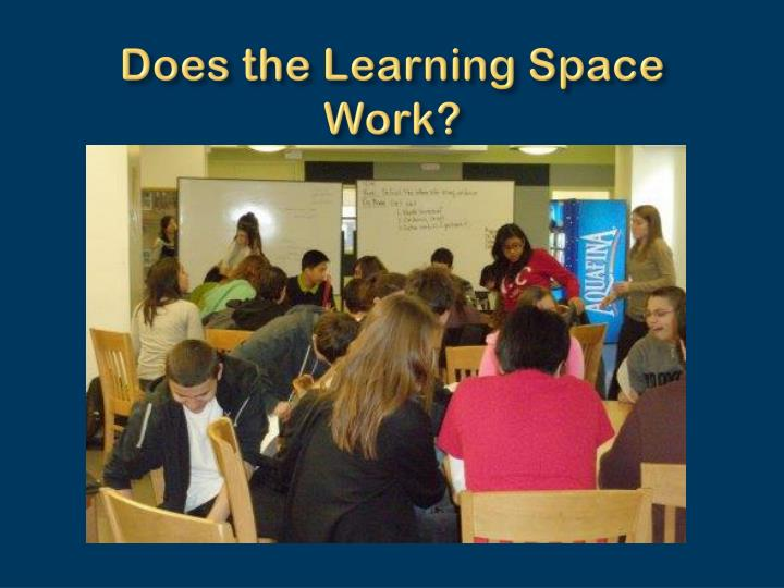 Does the Learning Space Work?