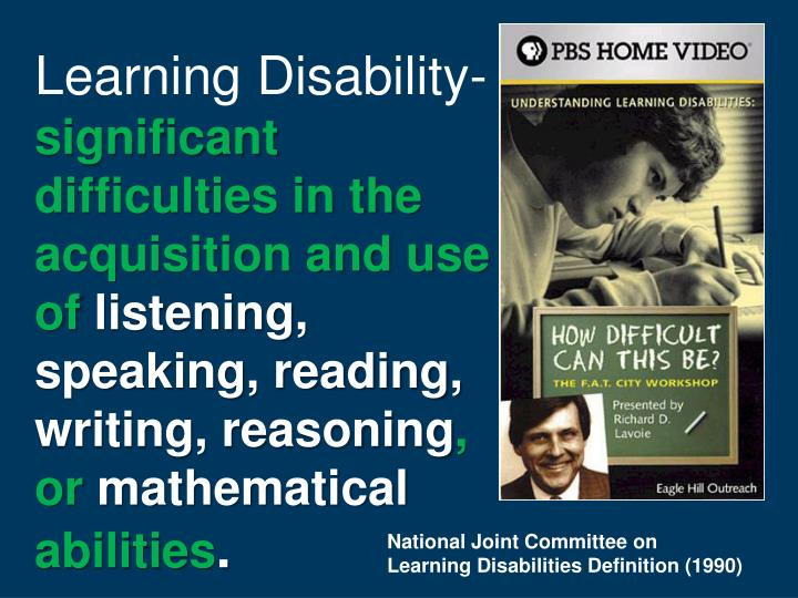 Learning Disability-