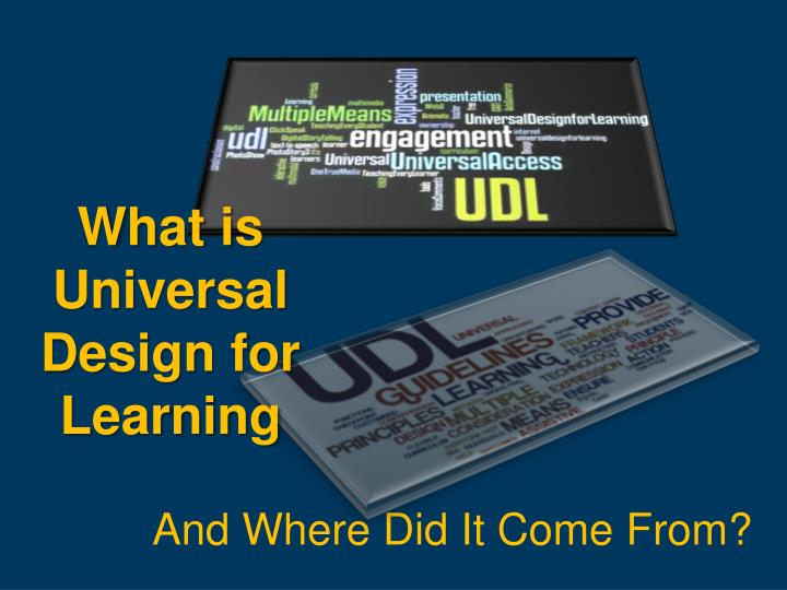 What is Universal Design for Learning