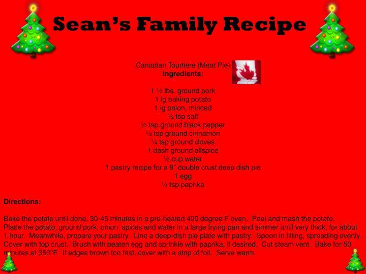 Sean's Family Recipe
