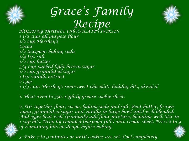 Grace's Family Recipe