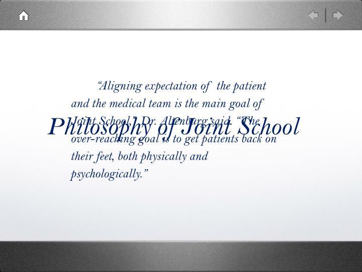 Philosophy of Joint School