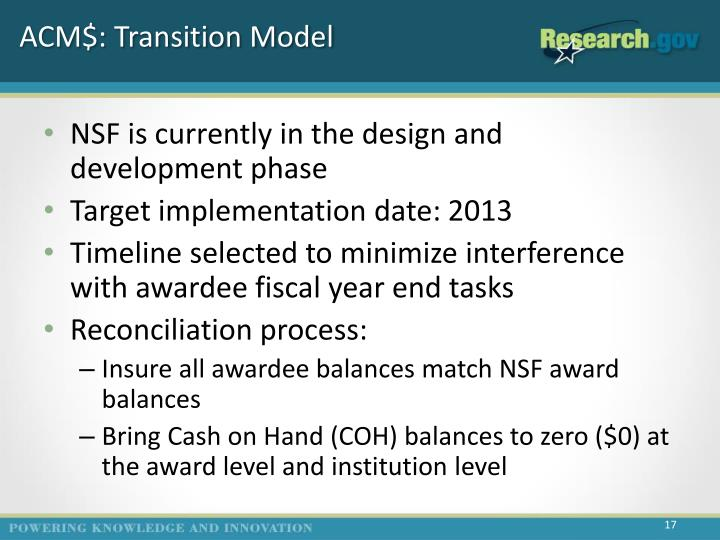 ACM$: Transition Model