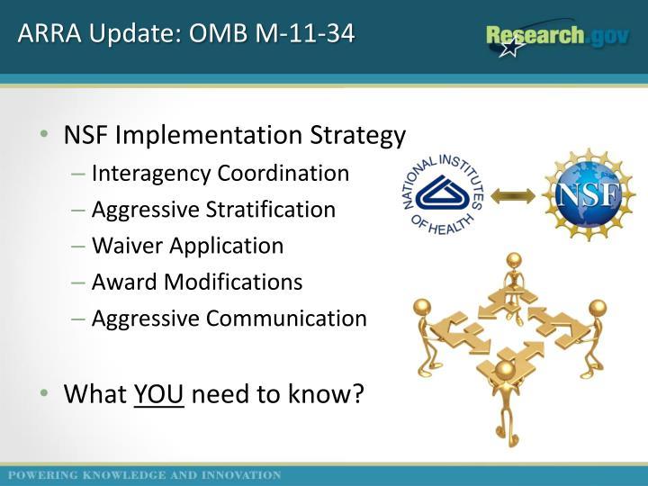 ARRA Update: OMB M-11-34