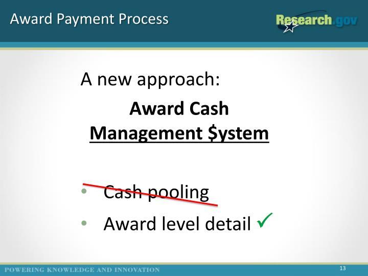 Award Payment Process