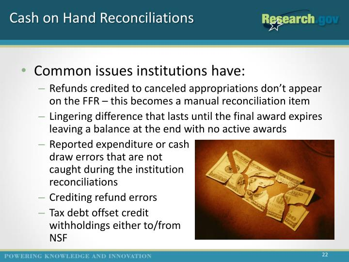 Cash on Hand Reconciliations