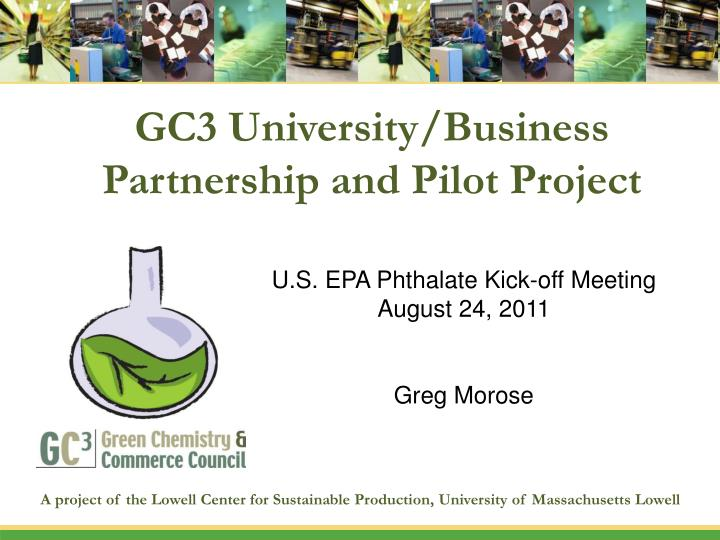 gc3 university business partnership and pilot project n.