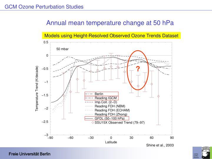 GCM Ozone Perturbation Studies