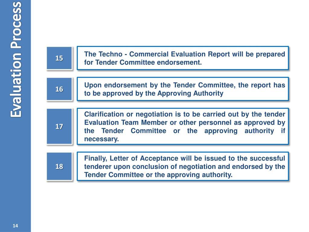 PPT - Tender Evaluation PowerPoint Presentation - ID:4825299