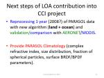 next steps of loa contribution into cci project