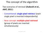 the concept of the algorithm