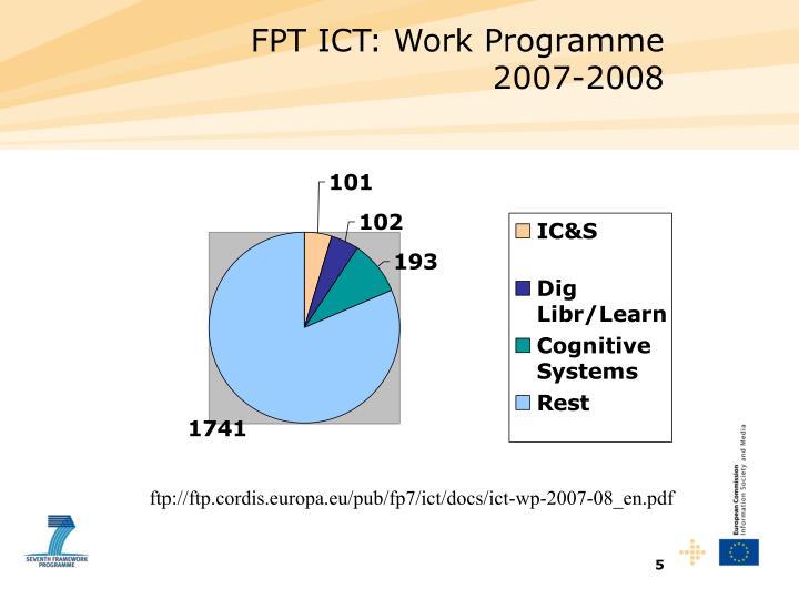FPT ICT: Work Programme