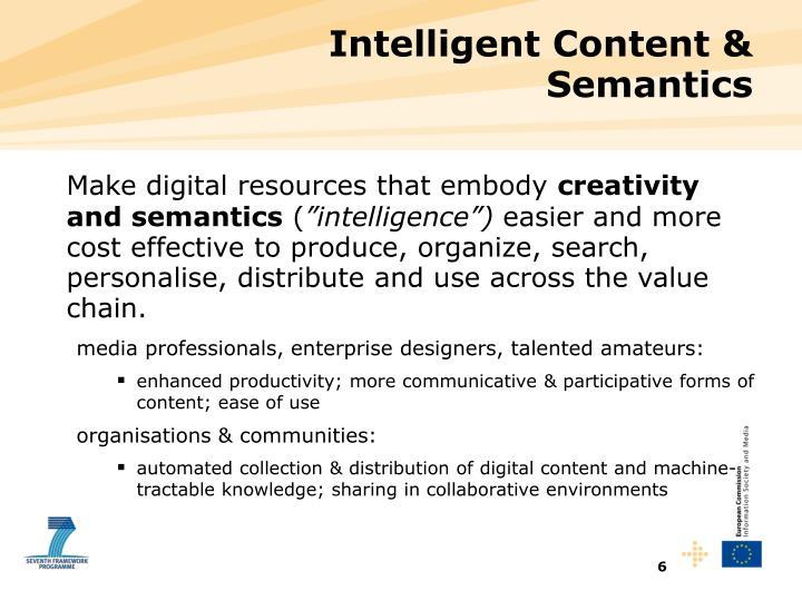 Intelligent Content &