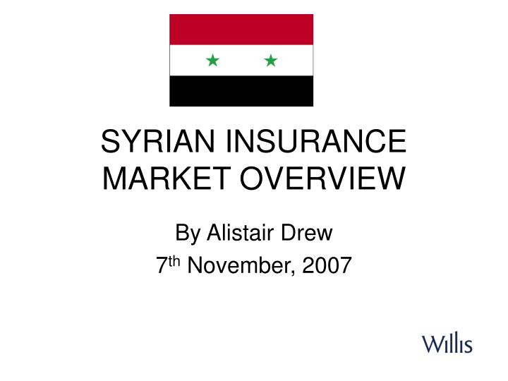 syrian insurance market overview n.